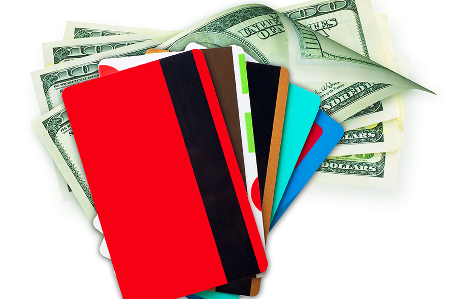 Money cash and credit discount